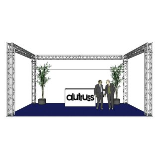 ALUTRUSS Traversenset QUADLOCK 6082 U-Form 7x4x3,5m (BxTxH)