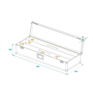 ROADINGER Flightcase 2x LED STP-10 ABL Sunbar