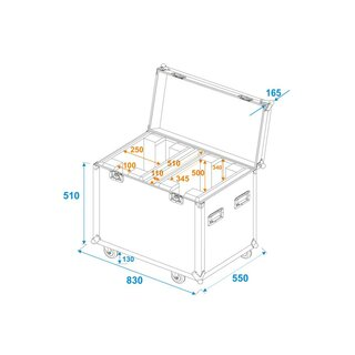 ROADINGER Flightcase 2x EYE-37