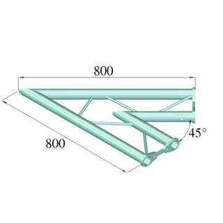 ALUTRUSS BISYSTEM PH-19 2-Weg 45° horizontal